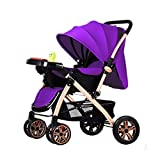 Guo@ Baby Stroller Lightweight Folding Baby Carriage 0/1-3 Years Old Simple Portable Music