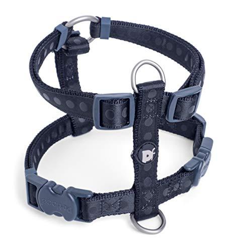 Petface Hundegeschirr, gepunktet, Größe M, Schwarz