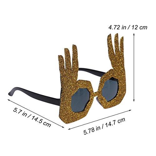 BESTOYARD Party Sunglasses Novelty Eye Glasses Fancy Dress Glasses Party Favors  Gold