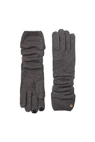 ESPRIT Accessoires Damen Handschuhe 107EA1R009, Grau (Dark Grey 020), One Size