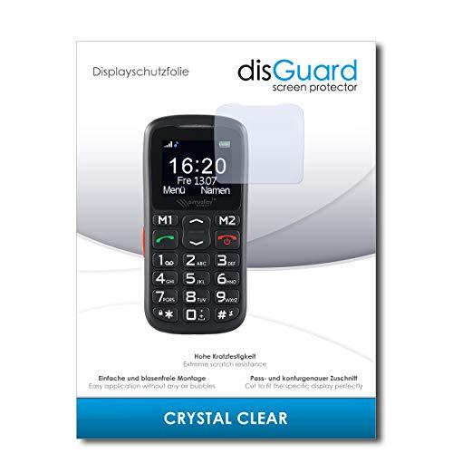 disGuard® Bildschirmschutzfolie [Crystal Clear] kompatibel mit Simvalley Mobile XL-915 V3 [4 Stück] Kristallklar, Transparent, Unsichtbar, Extrem Kratzfest, Anti-Fingerabdruck - Schutzfolie