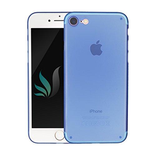 IPhone 8 / IPhone 7 Design Hülle Matt Blau transparent i-Spring 0.35mm höchste Qualität Ultra dünn Passt perfekt Handy Schutzhülle Bumper Case 4.7 Zoll (Blau)