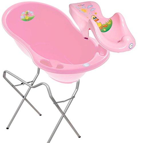 lux-baby-badeset-ente-grosse-babybadewanne-102cm-badesitz-stander-rosa