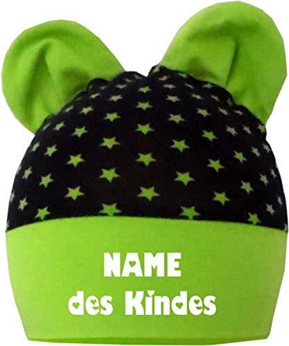 Bonnet à oreilles pour bébé/enfant et grandissant avec lui Personnalisable avec le nom de votre enfant En 4 designs Tailles 35-53 - bleu - 74