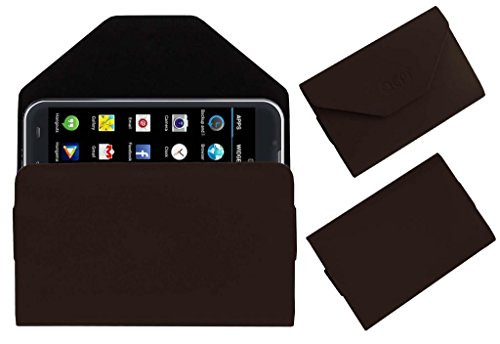 Acm Premium Pouch Case For Iball Andi 5-E7 Flip Flap Cover Holder Brown  available at amazon for Rs.359