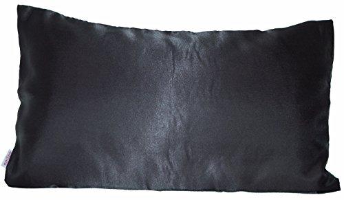beties Glanz Satin Kissenbezug 40x80 cm anschmiegsam & edel 100% Polyester (wählen Sie Ihren Bettbezug + Spannbetttuch extra dazu) Farbe Schwarz