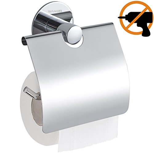 Wangel Toilettenpapierhalter ohne Bohren, Patentierter Kleber + Selbstklebender Kleber, Edelstahl, Poliertes Finish -