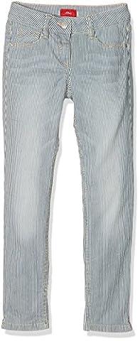 s.Oliver Mädchen Jeans Hose, Blau (Medium Blue Aop 55Z1), 152
