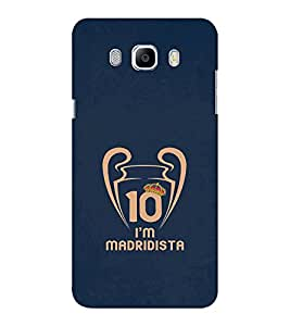 EPICCASE Madrid fan Mobile Back Case Cover For Samsung J5 2016 (Designer Case)