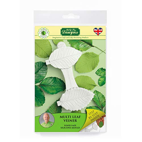 Multi Leaf Veiner Silicone Sugarpaste Icing Mould, Flower Pro by Nicholas Lodge for Cake Decorating, Crafts, Cupcakes, Sugarcraft, Candies, Cards and Clay, Food Safe Approved, Made in The UK