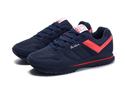 Chaussure de sport homme femme âgé mixte adulte chaussure de marche courir voyages bleu foncé