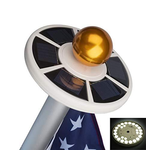 Solar Fahnenmast Licht Auto ON/OFF Im Freien Wasserdicht Superhell Solarbetriebene Fahnenmast Licht Mit 26 LED Down Licht Für Die Meisten 15 Bis 25 Ft