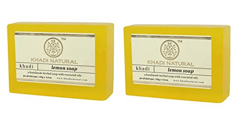 Khadi Lemon Soap, 125g (Pack of 2)  available at amazon for Rs.136