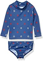 Amazon Essentials Baby-Mädchen 2-Piece Long-Sleeve Rash Guard Set