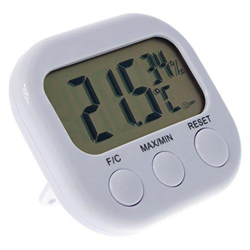 Smartfox Digital LCD Thermometer Hygrometer Temperatur Luftfeuchtigkeit mit MIN / MAX Funktion