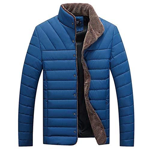 CLOOM Chaqueta de Invierno para Hombre, Mantener el Calor Forro de Felpa Jacket Abrigo de Pluma Color Sólido Rompevientos para Locomotora/Al Aire Libre/Deporte de Esquí