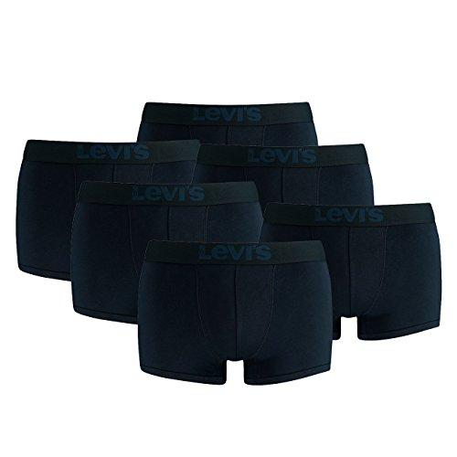 LEVIS Herren Trunk Boxershort 200SF - 3x2 paar Shorts (6er Pack) 824 - mid denim