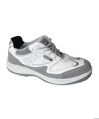 Dassy Neptunus/S3 Chaussure de Sécurité Tige Basse Blanc/Gris