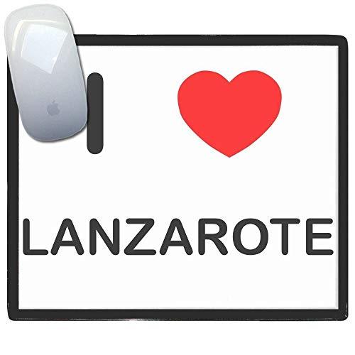 I Love Lanzarote - Alfombrilla para el ratón de plástico