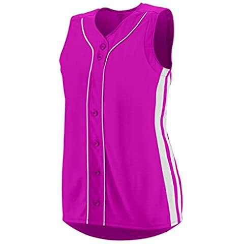Augusta Sportswear WOMEN'S WINNER SLEEVELESS SOFTBALL JERSEY 2XL Power Pink/White (US)