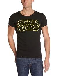 Logoshirt Herren T-Shirt Star Wars logo, Rundkragen, Logo