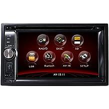 "TUVVA KSD6270B 2-DIN Autoradio multimédia DVD / CD / USB / SD / AUX-IN / MP4 / MP3 Radio Bluetooth Écran LCD tactile 15cm (6.2"") avec télécommande"