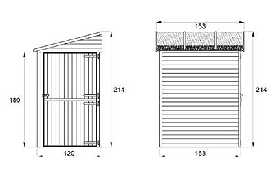 Anbauschrank - Abmessungen: 120 x 150 x 214 cm (L x B x H) von Steiner Shopping - Du und dein Garten
