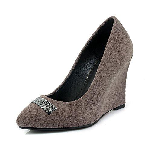 1b5d7079110d Dimaol Femmes Chaussures Printemps Été Polaire Confort Talons Compensés  Bout Pointu Pour La Fête Et Robe