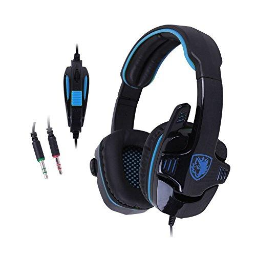 LIHAO Sades SA-708 Auricular Estéreo con Micrófono para PC Juego con