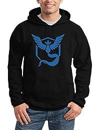 Go Team Blau Team Mystic Logo Kapuzenpullover Hoodie