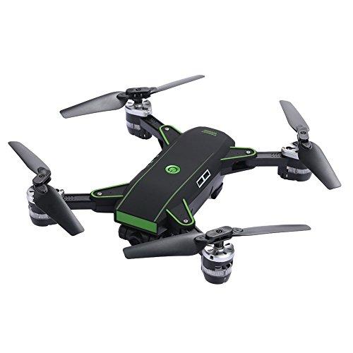 Fenghong Cámara Drone, YH-19 2.4GHz 4 Canales FPV WiFi 2.0MP Cámara 3D Flips Hover Altitude Hold Fotografía aérea Control Remoto Quadcopter Aviones helicóptero (Negro)