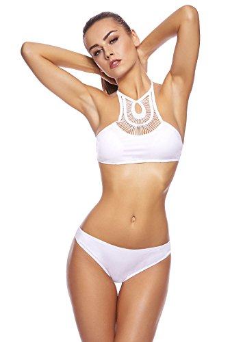 Costume da Bagno ottimizzazione di Figura, costume da Bagno Push up della Octopus Jack-f6016 Bikini bianco B7 (w)