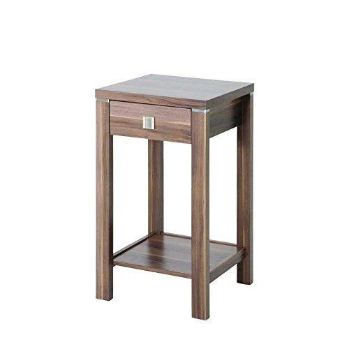 Haku-Möbel 42812 Konsole 40 x 40 x 74 cm, nußbaum (Schublade 2 Nussbaum Beistelltisch)