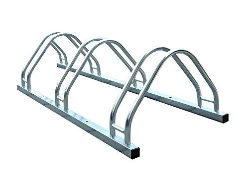 123home24.com Fahrradständer, Für 3 Fahrräder, Boden- und Wandmontage 96/30/43 cm -