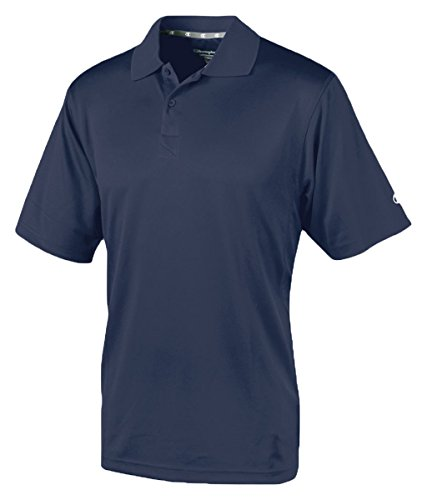 Champion Double Dry Mens Solid-Color Polo Shirt Navy