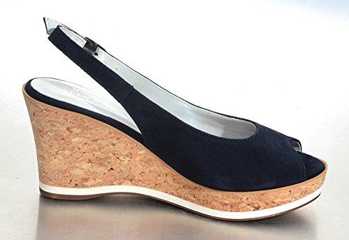 Marion Spath  345-125-blau, chaussures compensées femme Bleu