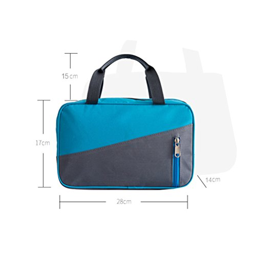 Fieans Multi-Funktions Reisen Big Size Gepäck-Falte-Kleidung-Speicher Carry-On Duffle Bag 28* 17* 14cm-Blau