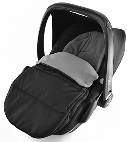 Universal-Fußsack für Babyschale Maxi Cosi Cabrio Pebble, Delfingrau