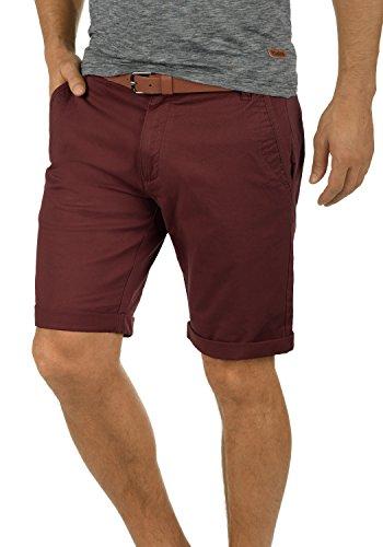!Solid Montijo Chino Shorts Bermuda Kurze Hose mit Gürtel aus Stretch-Material Regular Fit, Größe:XXL, Farbe:Wine Red (0985) (0.75)