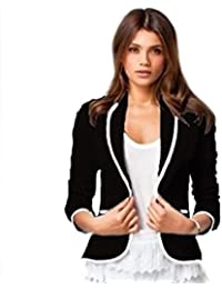 Damen Blazer Jäckchen Business Office Freizeit Casual Party Jacke Oberteil