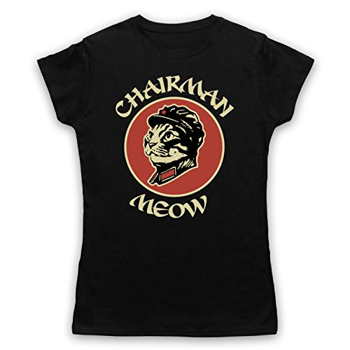 Chairman Meow Cat Damen T-Shirt Schwarz