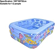 Family Inflatable Pool, Children's Swimming Pools Above Ground, Lounge Pool Thickened Kids Inflatable Pool