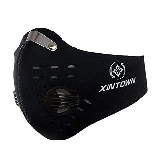 SKYSPER Atemschutzmaske Staubmaske Atemmaske Mundschutz Mundmaske Sport Maske Verschluß Ventil Feinstaubmaske Fitnessmaske PM2.5 für Radsport Training