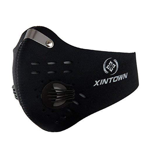 SKYSPER Atemschutzmaske Staubmaske Atemmaske Mundschutz Mundmaske Sport Maske Verschluß Ventil Feinstaubmaske Fitnessmaske PM2.5 für Radsport Training (Asiatisch Gesicht Produkte)