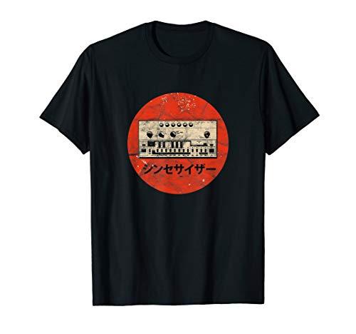 Acid Synthesizer Analog Synth - Techno Vintage DJ T-Shirt -