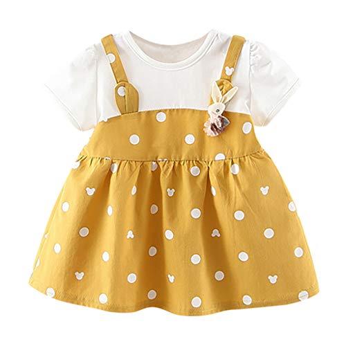Tpulling Baby Cartoon Rabbit Dot Print Prinzessin Kleid Freizeitkleider Sommerkleid Outfits Kleidung