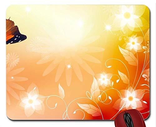 Mauspad Sonnenschein-Frühlings-Sommer-SchmetterlingsMausunterlage-Computer Mousepad
