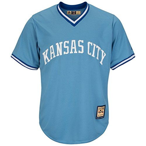Majestic Athletic Kansas City Royals MLB Herren Cool Base Cooperstown Pullover Jersey (4 x T) Cooperstown Base