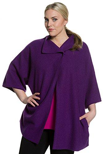 Ulla Popken Femme Grandes tailles Gilet 705765 Violet
