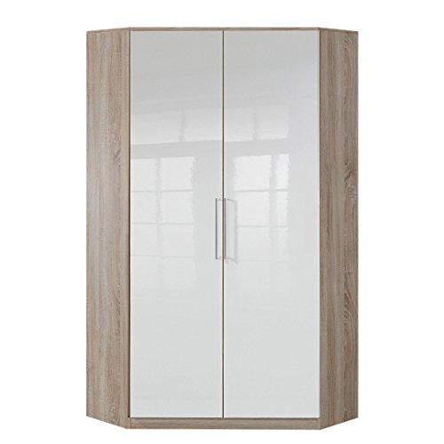 Wimex Kleiderschrank/ Eckschrank Gamma, (B/H/T) 95 x 198 x 95 cm, Weiß